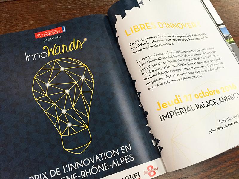 Double page de l'événement dans le magazine Acteurs de de l'Économie – n°Octobre 2016